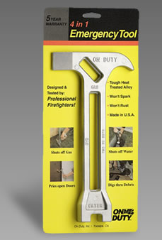4 in 1 emergency tool in packaging
